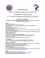 2017 South Americans Notice of Race V5